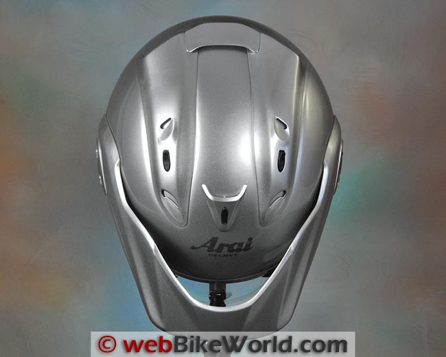 Arai CT-Z Helmet Top View