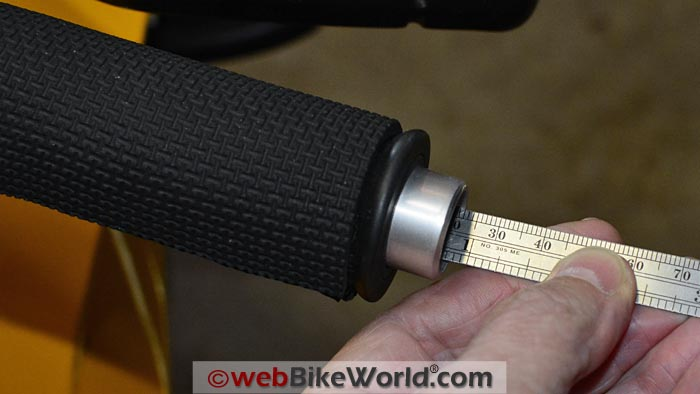 Handlebar End Weight Depth