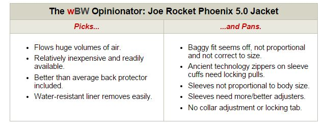 Joe Rocket Phoenix 5 Jacket Opinionator