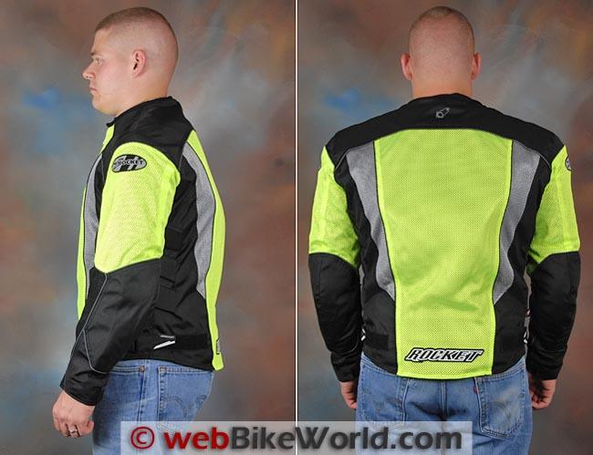 Joe Rocket Phoenix 5.0 Jacket Side Rear Views