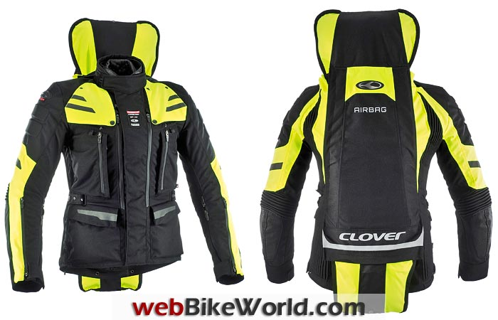 Clover Crossover Airbag Jacket With Airbag Deployed