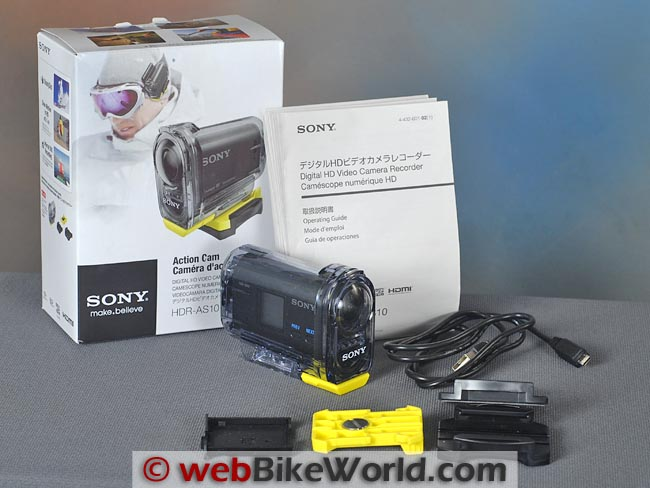 Sony Action Cam Box Contents