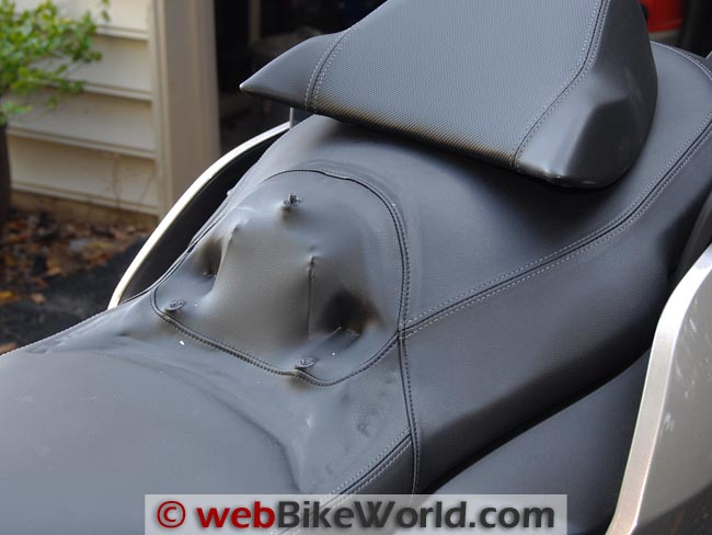 BMW C 650 GT Back Rest Removed