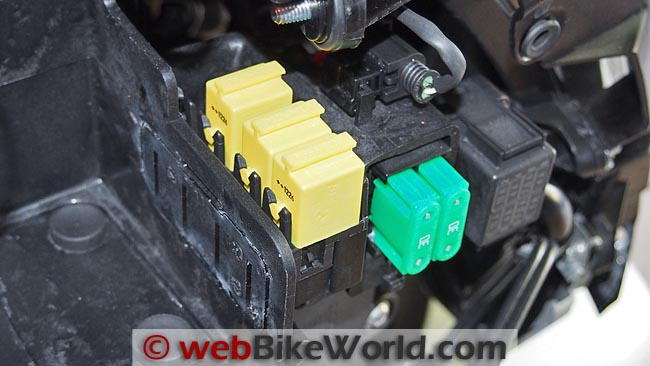 BMW C 650 GT Fuse Close-up