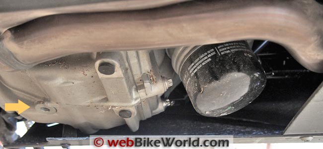 BMW Scooter Oil Filter and Drain Plug Location