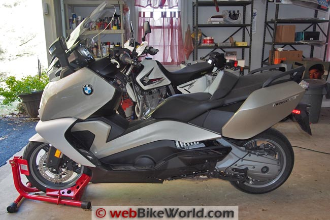 BMW Scooter on the Baxley Sport Chock