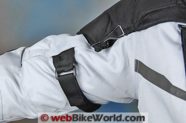 Firstgear Jaunt T2 Jacket Arm Adjuster Close-up