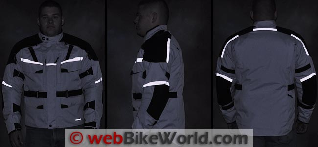 Firstgear Jaunt T2 Jacket Reflectivity
