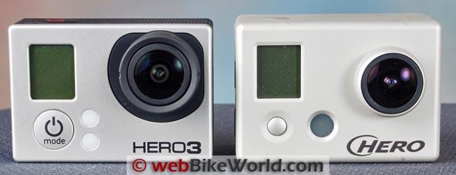GoPro Hero3 vs. GoPro Hero2 Front Views