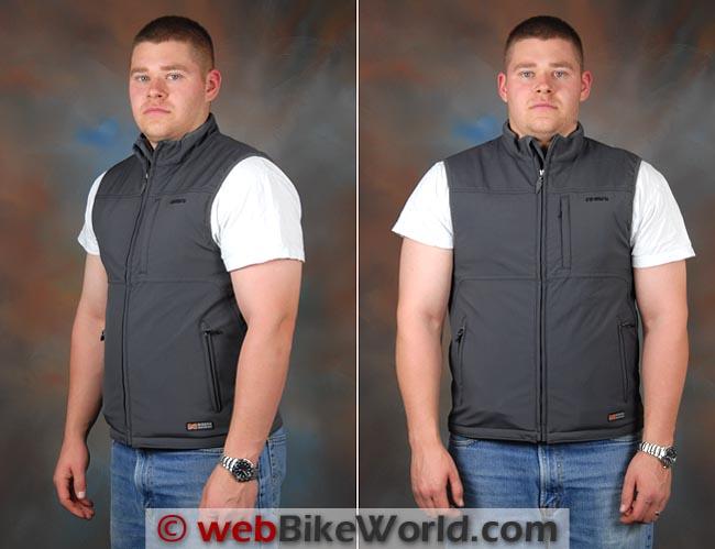 Mobile Warming Longmen Shirt and Classic Vest Front Side Views