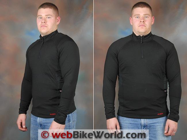 Mobile Warming Longmen Shirt Front Side Views