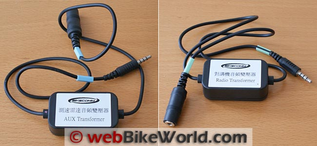 BikeComm AUX Transformer and Radio Transformer