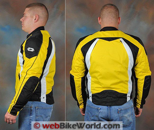 Castle Slate Jacket Side Rear Views