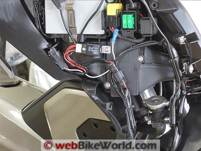 Denali DM1 Micro Lights Wiring Harness Installed