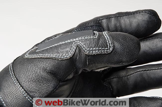 Joe Rocket Nitrogen Gloves Thumb Stitching Wiper Side