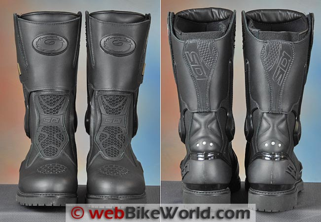 Sidi Armada Boots Front Rear Views