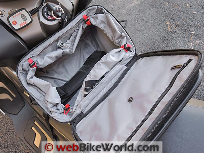 BMW C 650 GT Tunnel Bag Top Pocket Tie Backs