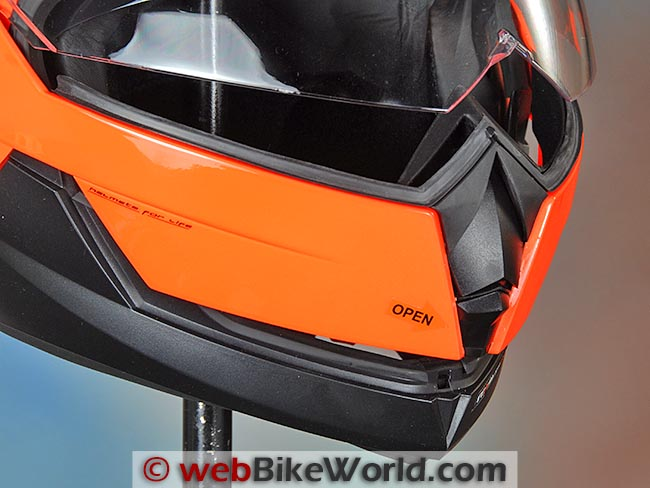 Nexx X30V Flip-up Visor Open