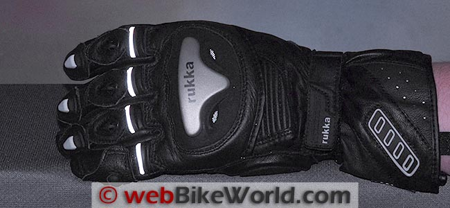 Rukka Argosaurus Gloves Reflectivity