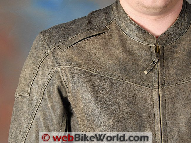 AGV Sport Element Vintage Leather Jacket Shoulder