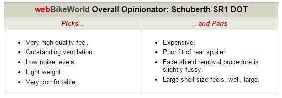SCHUBERTH SR1 DOT Opinionator