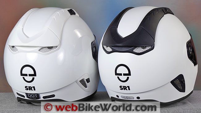 SCHUBERTH SR1 DOT vs ECE Rear
