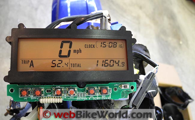 Suzuki DR-Z400S Clock Repair - webBikeWorld