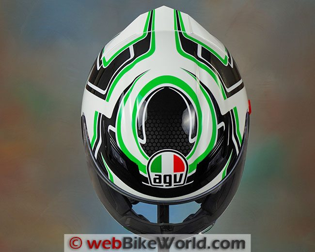 AGV Horizon Helmet Top View