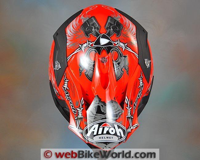 Airoh Terminator Helmet Top View