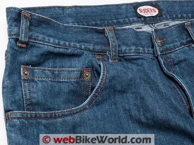 Sliders 4.0 Jeans Front Pocket Stitching