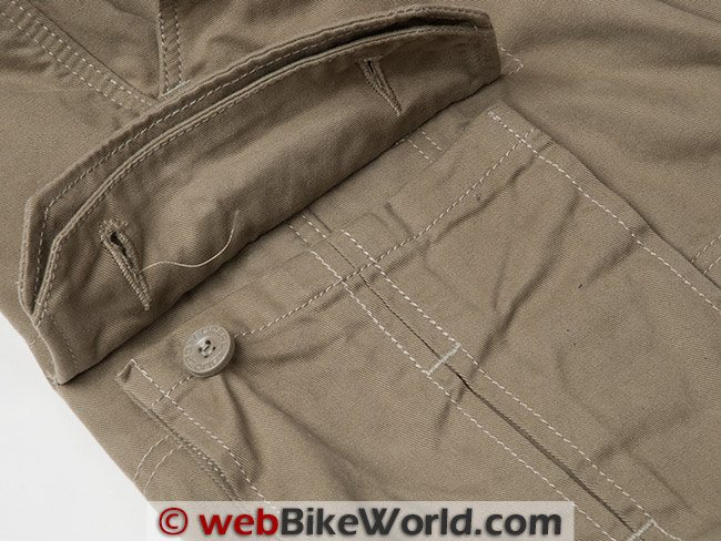 Sliders Cargo Pants Pocket Button Missing