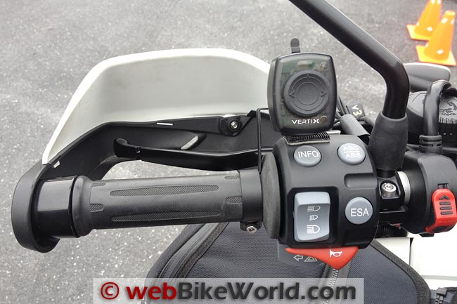 Vertix Raptor-i Intercom Remote Control Mounted on Motorcycle