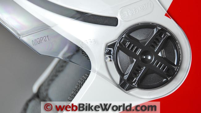 AGV Blade Helmet Face Shield Removal Mechanism