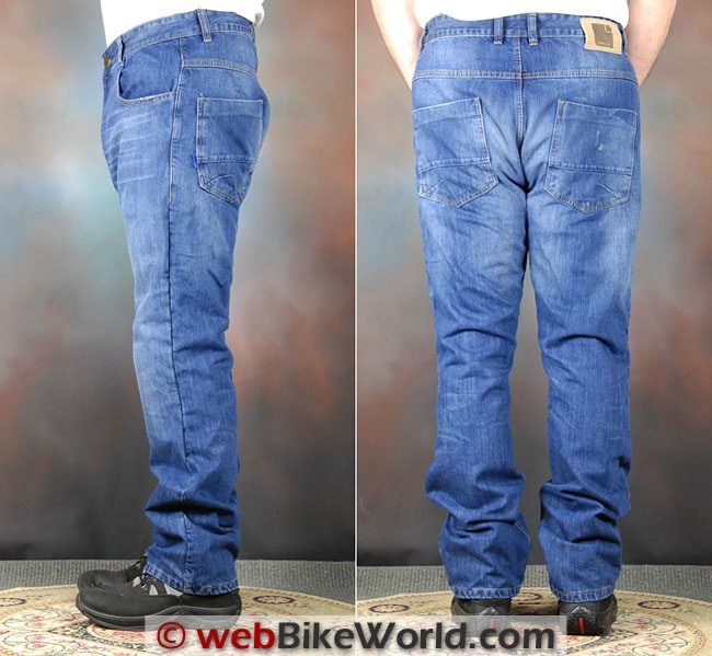 Overlap Manx Jeans Side Rear Views