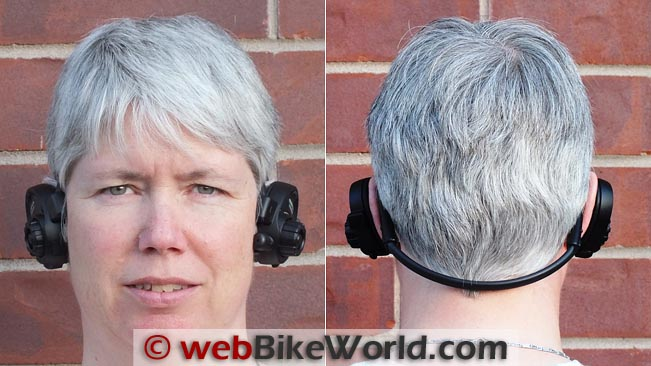 Sena SPH10 Personal Headset Front and Rear Views