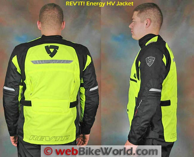 REV'IT! Energy HV Jacket Side and Rear Views