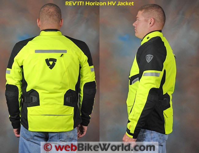 REV'IT! Horizon HV Jacket Side and Rear Views