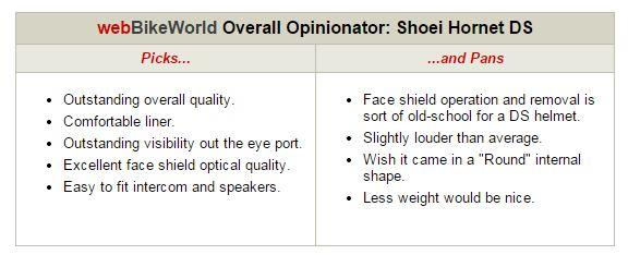 Shoei Hornet DS Opinionator