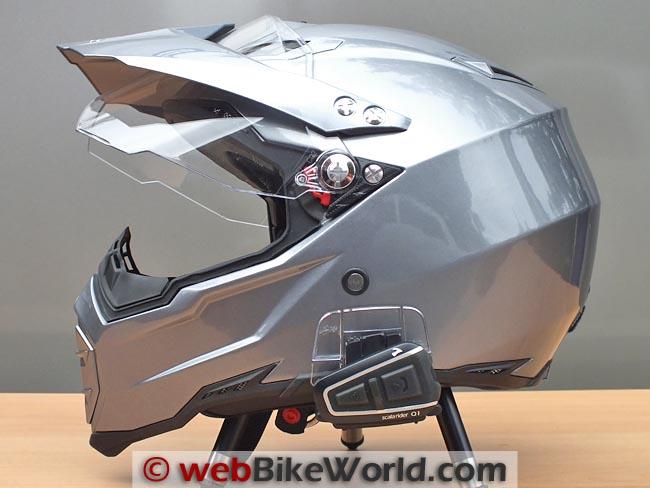 AGV AX-8 Helmet With Cardo Q1 Mounted