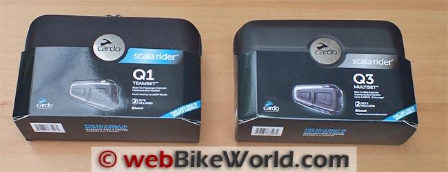 Cardo Scala Rider Q1 - Q3 Boxes