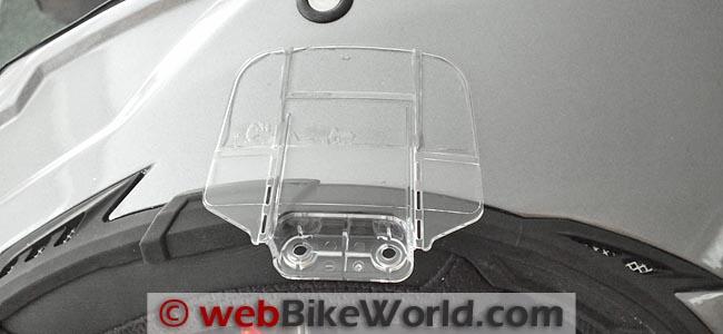 Cardo Scala Rider Q1 Q3 Intercom Mounting Plate on Helmet
