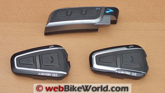 Cardo Scala Rider Q1 and Q3 With Cardo G9