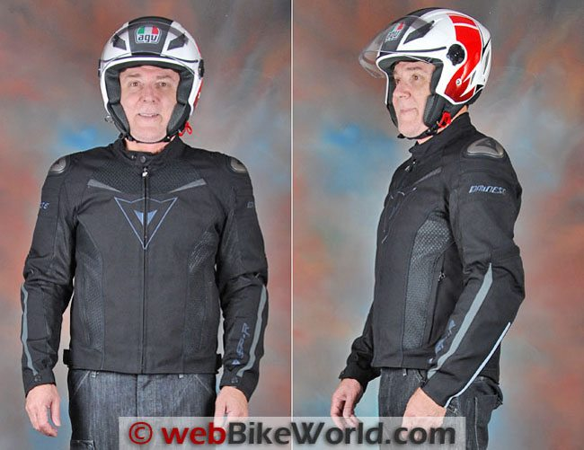 Dainese Super Speed Tex Jacket Front Side Views