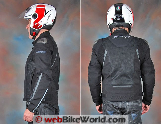 Dainese Super Speed Tex Jacket Side Rear Views