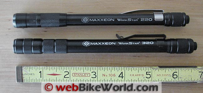 Maxxeon Workstar 220 vs. 320 Length Comparison