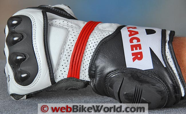 Racer R-Safe Gloves Back of Wrist