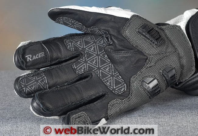 Racer R-Safe Gloves Palm Close-up