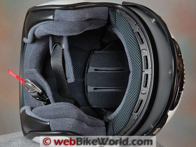 Shoei RJ-Platinum R Helmet Liner and Cheek Pads