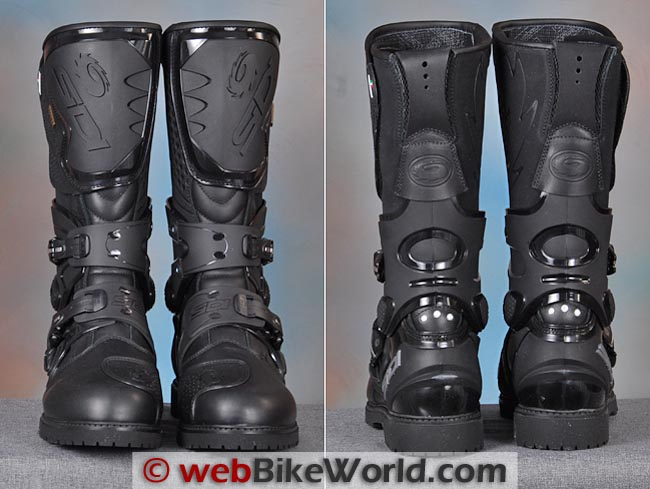 Sidi Adventure Gore-Tex Boots Front Rear Views