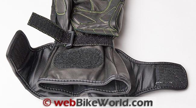 AeroMoto Corsa Pro Gloves Gauntlet Open Wrist Strap